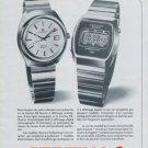 Certina Watch Company DS-Quartz Chronolympic Vintage 1977 Swiss Ad Suisse Advert