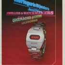 Bulova Watch Company Vintage 1975 Swiss Ad Suise Advert Horlogerie Horology