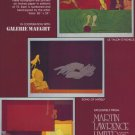 Valerio Adami Vintage 1982 Art Ad Song of Myself Odalisque Le Talon d'Achille