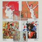 1982 Peter Max Zero Megalopolis #8 Advert Vintage 1982 Art Ad Advertisement