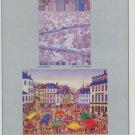 Fanch Vintage 1982 Art Ad Place du Marche Spring Snow