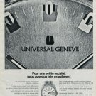 1972 Universal Geneve Watch Company Switzerland Vintage 1972 Swiss Ad Suisse Advert