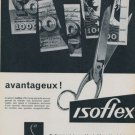 1958 Isoflex Company Switzerland Vintage 1958 Swiss Ad Suisse Advert Horlogerie Horology