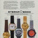 Eterna Watch Company Eterna Sonic Vintage 1972 Swiss Ad Suisse Advert Horology