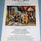Cecil C. Bell Vintage 1976 Retrospective Art Exhibition Ad Advert