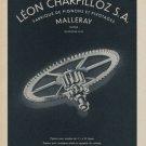 1958 Leon Charpilloz S.A. Company Switzerland 1958 Swiss Ad Suisse Advert Horlogerie Horology