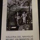 Franco Gentilini Adamo ed Eva Vintage 1972 Art Ad