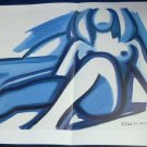 Tom Wesselmann Blue Nude Art Ad Advertisement