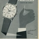 1958 Technos Watch Company Vintage 1958 Swiss Ad Suisse Advert Gunzinger Brothers Switzerland