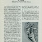 1950 The Spirofix Regulator by H. Kocher (Cortebert) Vintage 1950 Swiss Magazine Article Horology