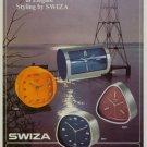 1971 Swiza Clock Company Louis Schwab SA 1971 Swiss Ad Suisse Advert Horlogerie