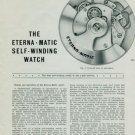 1950 Eterna Watch Company Vintage 1950 Swiss Magazine Article The Eterna Matic Self-Winding