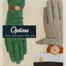 1957 Optima Watch Company Grenchen Switzerland Vintage 1957 Swiss Ad Suisse Advert
