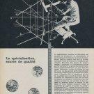 Ebauches Company Ebauches S.A. Neuchatel Switzerland 1959 Swiss Ad Suisse Advert