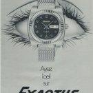 1971 Exactus Watch Company Switzerland Vintage 1971 Swiss Ad Suisse Advert Horology