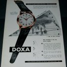 1956 Doxa Watch Company Switzerland Vintage 1956 Swiss Ad Suisse Advert Horology Horlogerie