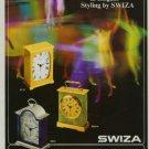 Swiza Clock Company Switzerland 1971 Swiss Ad Suisse Advert Horlogerie Horology
