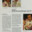 1972 Heuer Watch Company Jack Ickx Clay Regazzoni Vintage 1972 Swiss Magazine Article Horology