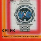 1972 Kelek Watch Company Switzerland Vintage 1972 Swiss Ad Suisse Advert Horlogerie