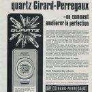 1972 Girard-Perregaux Watch Company Quartz Vintage 1972 Swiss Ad Suisse Advert
