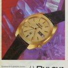 Bulova Watch Company Accuquartz Vintage 1972 Swiss Ad Suisse Advert Horlogerie