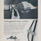 1958 Mido Watch Company Bienne Switzerland 1958 Swiss Ad Suisse Advert Horlogerie