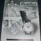 Cortebert Watch Company Switzerland 1956 Swiss Ad Suisse Advert Horlogerie
