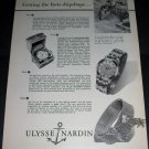 1956 Ulysse Nardin Watch Company Getting the Facts Ship Shape 1956 Swiss Ad Suisse Advert