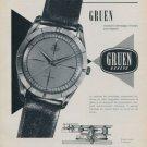 Gruen Watch Company Switzerland 1959 Swiss Ad Suisse Advert Horology Horlogerie