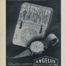 Angelus Watch Company Switzerland Vintage 1956 Swiss Ad Suisse Advert Horlogerie