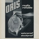1956 Oris Watch Company Holstein Switzerland Vintage 1956 Swiss Ad Suisse Advert Horology
