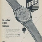 1959 Oris Watch Company Holstein Switzerland 1959 Swiss Ad Suisse Advert Horology