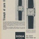 1958 Doxa Watch Company Switzerland 1958 Swiss Ad Suisse Advert Horlogerie Horology