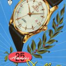 1957 Delbana Watch Company 25th Anniversary 1957 Swiss Ad Suisse Advert Switzerland