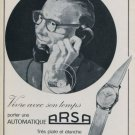 Arsa Watch Company Switzerland 1959 Swiss Ad Suisse Advert Horology Horlogerie
