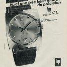 Lip Watch Company Aqua Roe Vintage 1968 Swiss Ad Suisse Advert Horlogerie