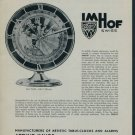 Arthur Imhof Clock Company Switzerland Vintage 1957 Swiss Ad Suisse Advert