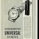 1950 Universal Geneve Watch Company Geneva Switzerland 1950 Swiss Ad Suisse