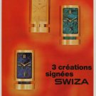 1970 Swiza Clock Company Switzerland 1970 Swiss Ad Suisse Advert Horlogerie Horology