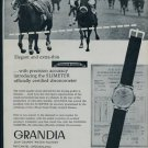 1957 Grandia Watch Company Switzerland Vintage 1957 Swiss Ad Jean Grandy Suisse Advert