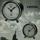 Enicar Clock Company Lengnau Bienne Switzerland 1950 Swiss Ad Suisse Advert