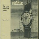 1957 Roamer Watch Company Switzerland Vintage 1957 Swiss Ad Suisse Advert Horology