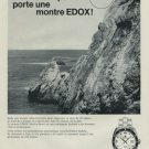Edox Watch Company Switzerland Vintage 1968 Swiss Ad Suisse Advert Horology