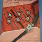1955 Mido Watch Company Switzerland Vintage 1955 Swiss Ad Suisse Advet