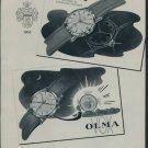 1957 Olma Watch Company Switzerland Vintage 1957 Swiss Ad Suisse Advert Horology