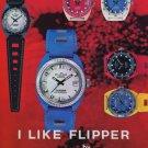 Eloga Watch Company Flipper Vintage 1970 Swiss Ad Suisse Advert Horlogerie