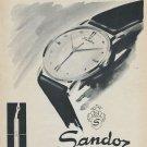 1955 Sandoz Watch Company Henry Sandoz & Fils Switzerland Vintage 1955 Swiss Ad Suisse Advert