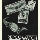 1950 Repco Watch Company Tramelan Switzerland Vintage 1950 Swiss Ad Suisse Advert