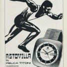 Felca Watch Company Astrovilla Vintage 1970 Swiss Ad Suisse Advert Horlogerie