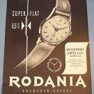 1955 Rodania Watch Company Switzerland Vintage 1955 Swiss Ad Suisse Advert